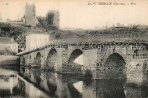 AK / Ansichtskarte Saint Germain de Confolens Pont Saint Germain de Confolens
