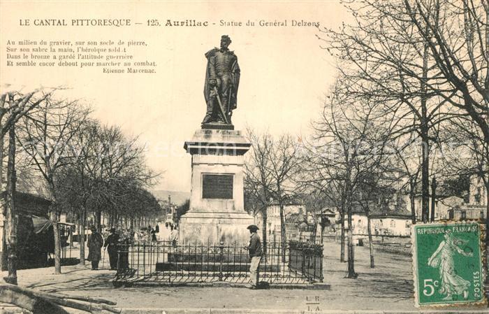 AK / Ansichtskarte Aurillac Statue du General Delzens Aurillac