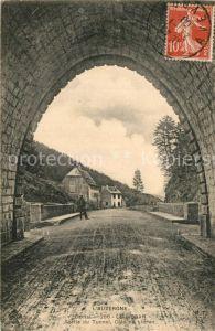 AK / Ansichtskarte Le_Lioran Sortie du Tunnel Cote du Lioran Le_Lioran
