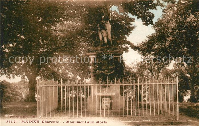 AK / Ansichtskarte Mainxe Monument aux Morts Kriegerdenkmal Mainxe