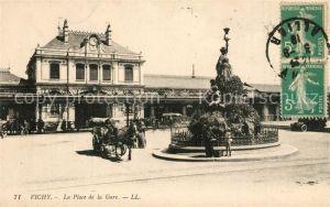 AK / Ansichtskarte Vichy_Allier La Place de la Gare Vichy Allier