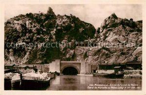 AK / Ansichtskarte Marseille_Bouches du Rhone Entree du Tunnel du Rhone Canal de Marseille au Rhone Long Marseille