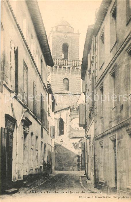 Arles_Bouches du Rhone Le Clocher et la rue du Seminaire Arles_Bouches du Rhone