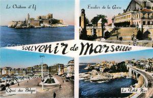 Marseille_Bouches du Rhone Chateau d'If Escalier de la Gare Quai des Belges Le Petit Nice Marseille