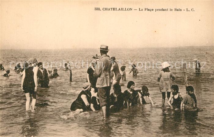 Chatelaillon Plage La plage pendant le bain Chatelaillon Plage