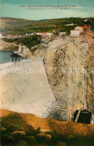AK / Ansichtskarte Sarrans_Lac_de Les Grands Travaux de la Truyere Vue partielle du barrage de Sarrans Sarrans_Lac_de