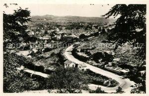 AK / Ansichtskarte Villefranche de Rouergue Route de Rieupeyroux Tournant de la Roque Villefranche de Rouergue