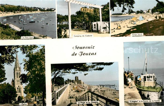 AK / Ansichtskarte Fouras_Charente Maritime Port Camping Plage Eglise Citadelle Pointe de la Fumee Bateau l Aiglon Fouras Charente Maritime