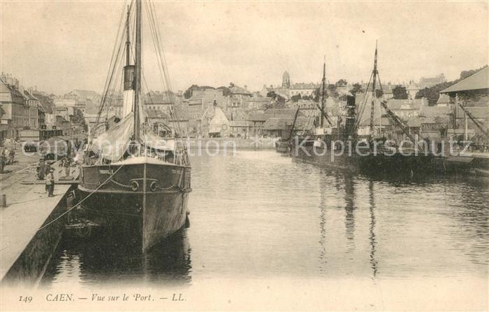 AK / Ansichtskarte Caen Vue sur le Port Bateaux Caen