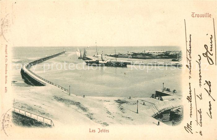 AK / Ansichtskarte Trouville sur Mer Panorama les Jetees Trouville sur Mer