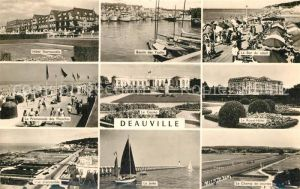 AK / Ansichtskarte Deauville Hotel Promenade Plage Bassin de Yachts Port la Jetee Casino Champ de courses Deauville