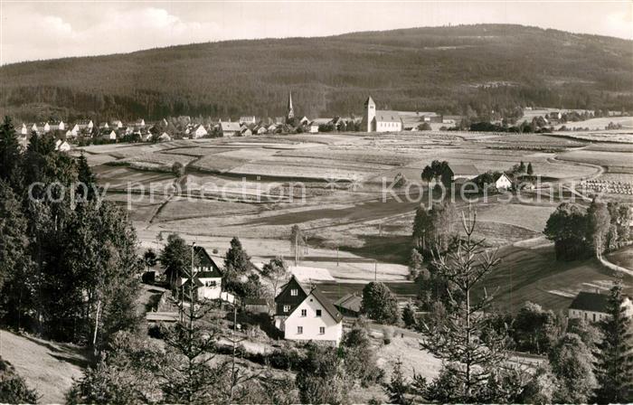 AK / Ansichtskarte Bischofsgruen Ochsenkopf Panorama Bischofsgruen