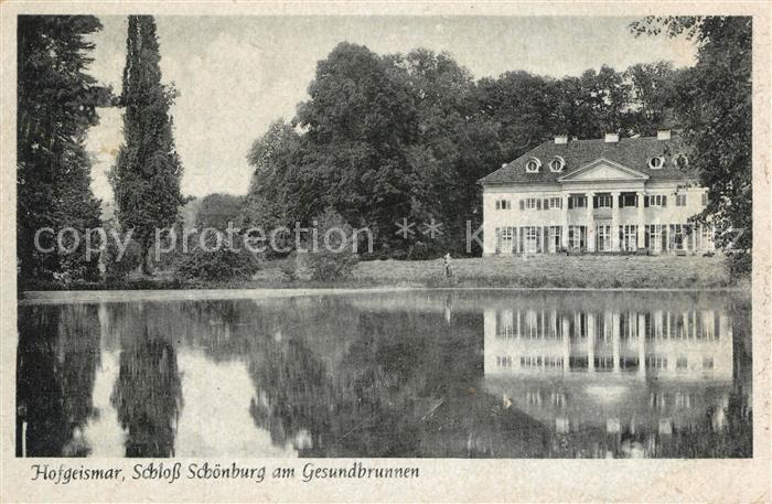 AK / Ansichtskarte Hofgeismar Schloss Schoenburg Gesundbrunnen Hofgeismar