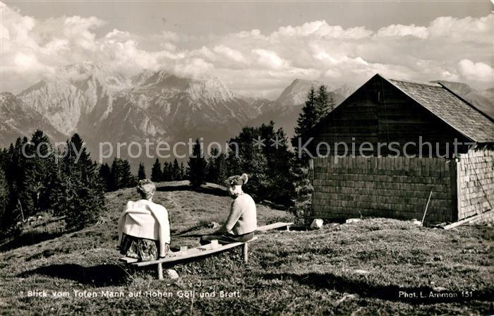 AK / Ansichtskarte Berchtesgaden Blick vom Toten Mann auf Hohen Goell und Brett Berchtesgaden