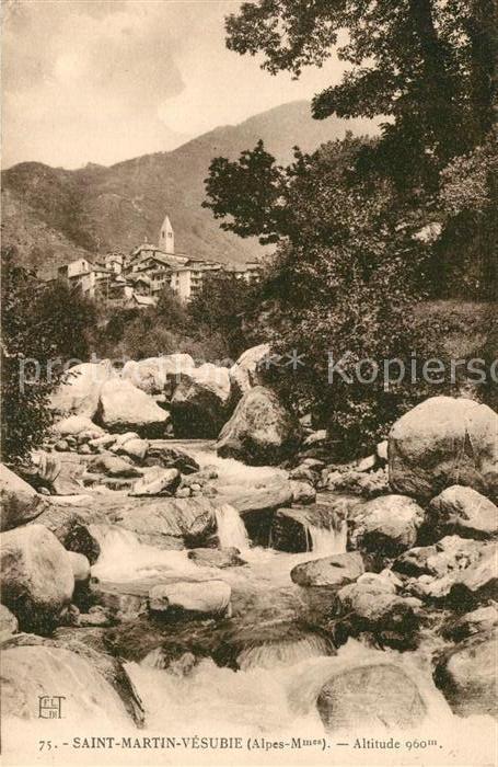 AK / Ansichtskarte Saint Martin Vesubie Partie am Fluss Saint Martin Vesubie 0