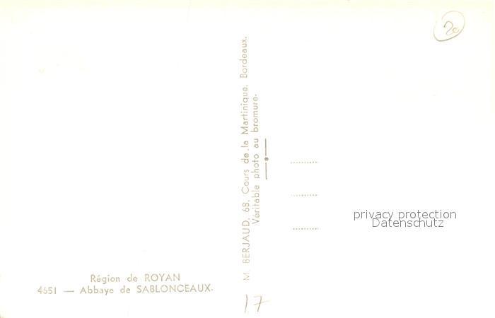 AK / Ansichtskarte Sablonceaux Abbaye Sablonceaux 1