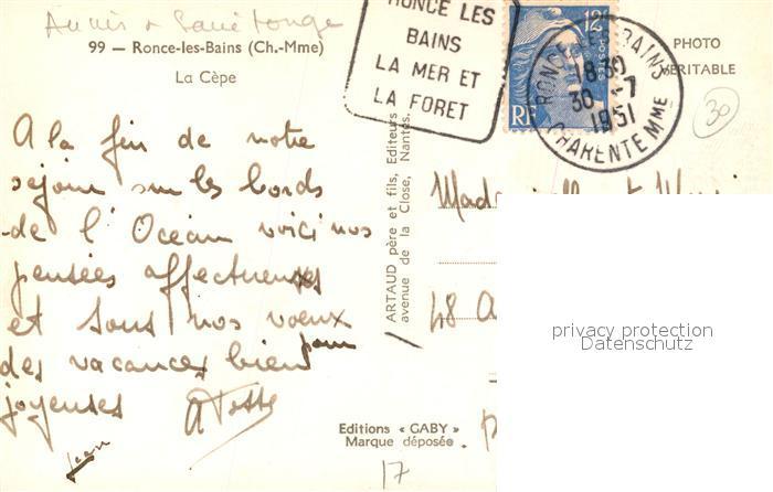 AK / Ansichtskarte Ronce_les_Bains La Cepe Plage Ronce_les_Bains 1