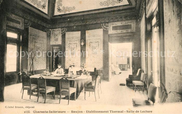 AK / Ansichtskarte Saujon Etablissement Thermal Salle de Lecture Saujon 0