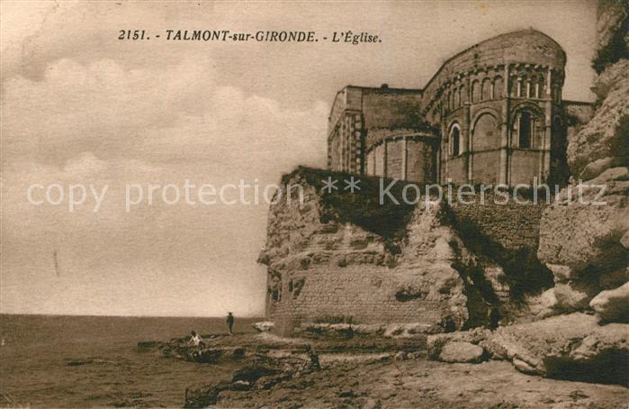 AK / Ansichtskarte Talmont sur Gironde Eglise Talmont sur Gironde
