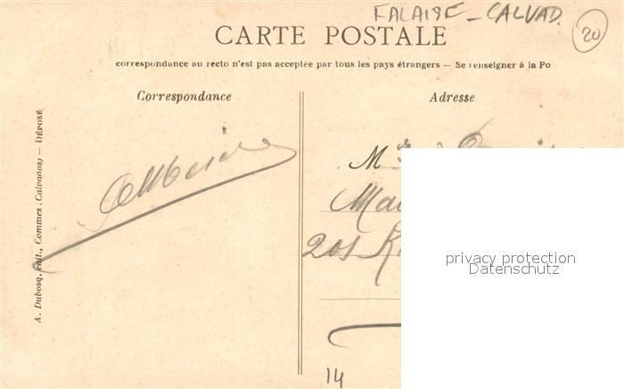 AK / Ansichtskarte Falaise_Calvados Le Gars de Falaise Legende de la Lanterne Sagen Maerchen Falaise_Calvados 1