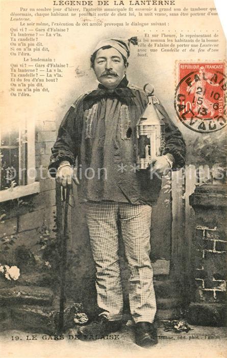 AK / Ansichtskarte Falaise_Calvados Le Gars de Falaise Legende de la Lanterne Sagen Maerchen Falaise_Calvados