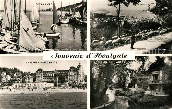 AK / Ansichtskarte Houlgate Port Bateaux a Voile Plage Moulin Landry Panorama Houlgate 0