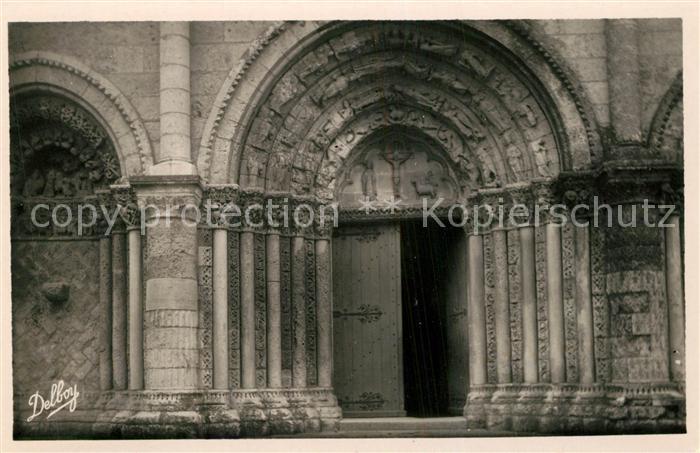 AK / Ansichtskarte Pont l_Abbe d_Arnoult Facade Eglise Romane Pont l_Abbe d_Arnoult