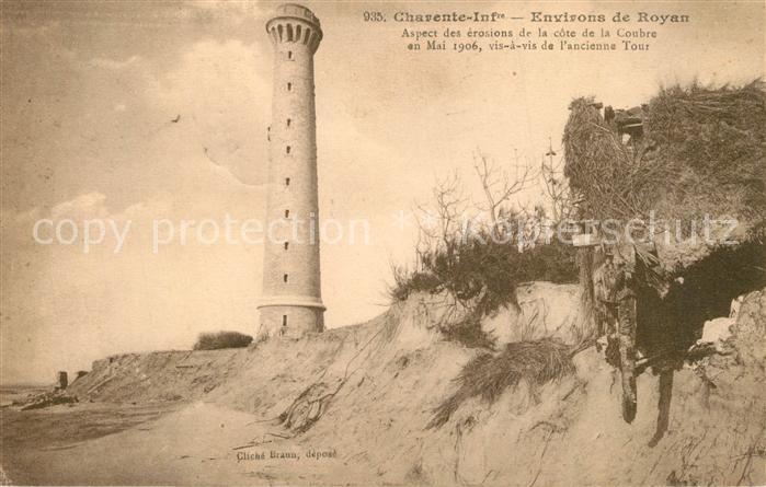 AK / Ansichtskarte Royan_Charente Maritime Aspect des erosions cote de la Coubre ancienne Tour Royan Charente Maritime 0