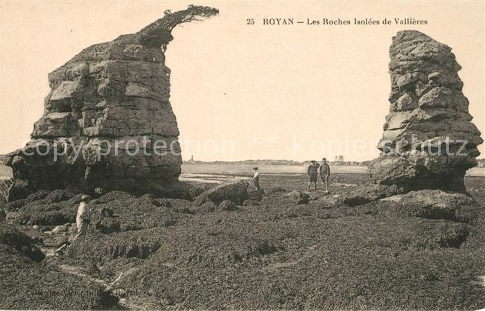 AK / Ansichtskarte Royan_Charente Maritime Les Roches isolees de Vallieres Royan Charente Maritime