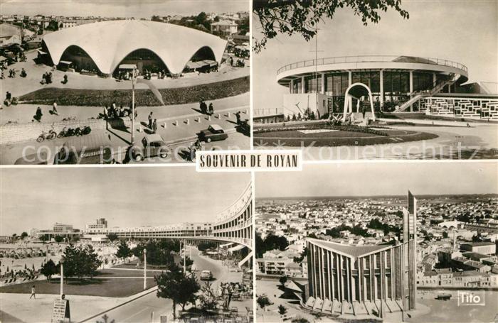 AK / Ansichtskarte Royan_Charente Maritime Marche Casino Front de Mer Eglise Notre Dame Royan Charente Maritime