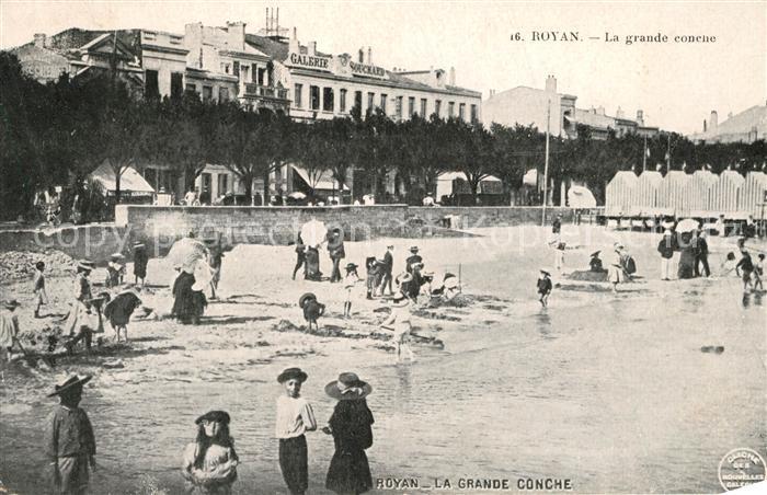 AK / Ansichtskarte Royan_Charente Maritime La grande conche Plage Royan Charente Maritime