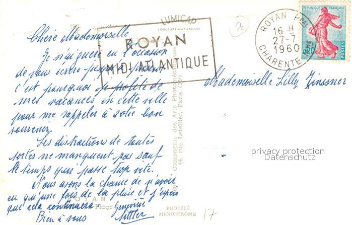 AK / Ansichtskarte Royan_Charente Maritime Panorama Plage Royan Charente Maritime 1