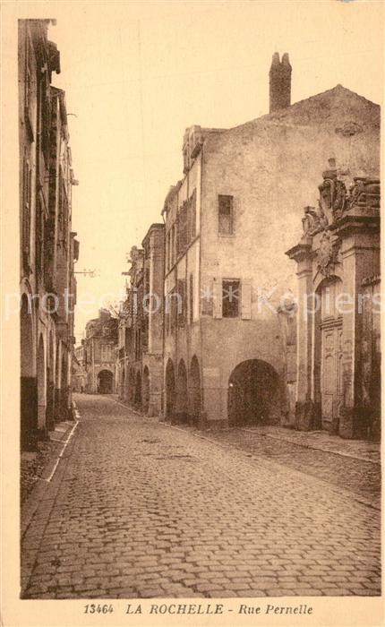 AK / Ansichtskarte La_Rochelle_Charente Maritime Rue Pernelle La_Rochelle 0