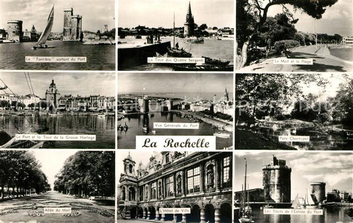 AK / Ansichtskarte La_Rochelle_Charente Maritime Port Tour Allee Hotel de Ville Parc La_Rochelle