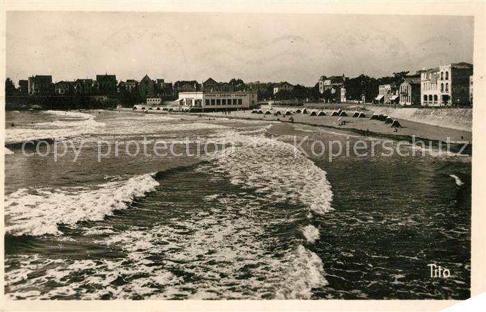 AK / Ansichtskarte Royan_Charente Maritime La plage a maree montante Royan Charente Maritime
