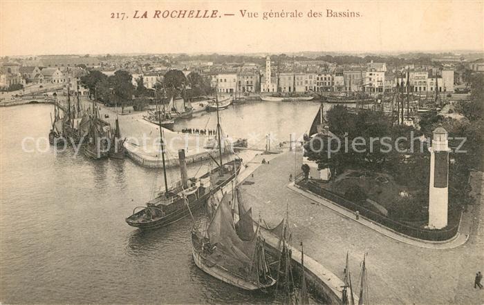AK / Ansichtskarte La_Rochelle_Charente Maritime Vue generale des Bassins Bateaux Port La_Rochelle