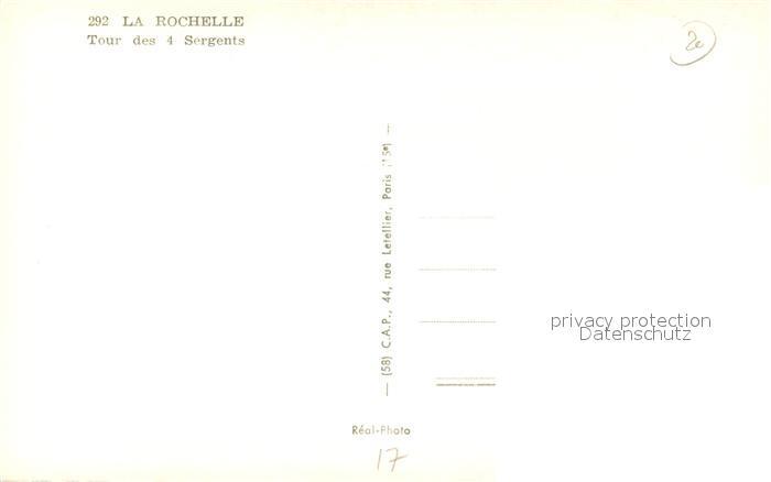 AK / Ansichtskarte La_Rochelle_Charente Maritime Tour des 4 Sergents La_Rochelle 1