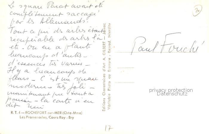 AK / Ansichtskarte Rochefort_sur_Mer Les Promenades Cours Roy Bry Rochefort_sur_Mer 1