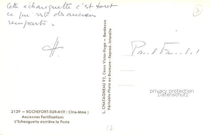 AK / Ansichtskarte Rochefort_sur_Mer Anciennes Fortifications Echauguette derriere la Poste Rochefort_sur_Mer 1