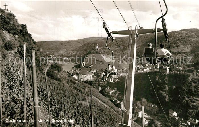 AK / Ansichtskarte Cochem_Mosel Sesselbahn Cochem Mosel 0