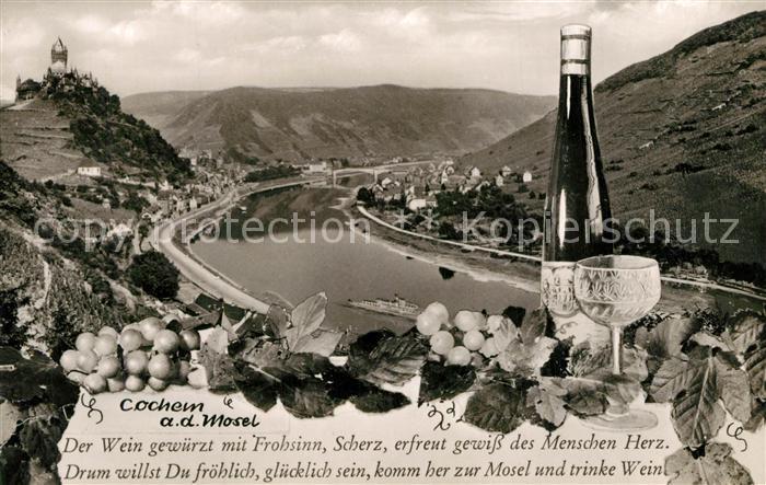 AK / Ansichtskarte Cochem_Mosel Burg Panorama Gedicht Cochem Mosel 0