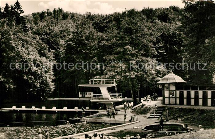 AK / Ansichtskarte Bad_Lauterberg Badeanstalt Wiesenbeker Teich Bad_Lauterberg 0