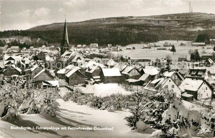 AK / Ansichtskarte Bischofsgruen Fernsehsender Ochsenkopf Winter Bischofsgruen 0