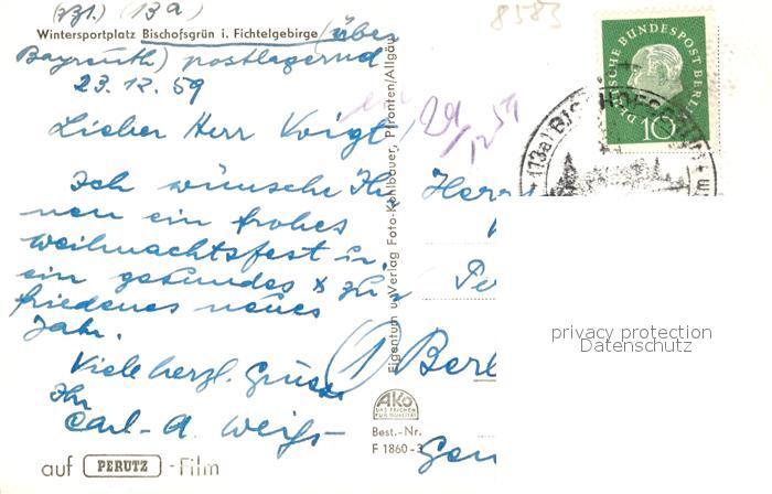 AK / Ansichtskarte Bischofsgruen Fernsehsender Ochsenkopf Winter Bischofsgruen 1