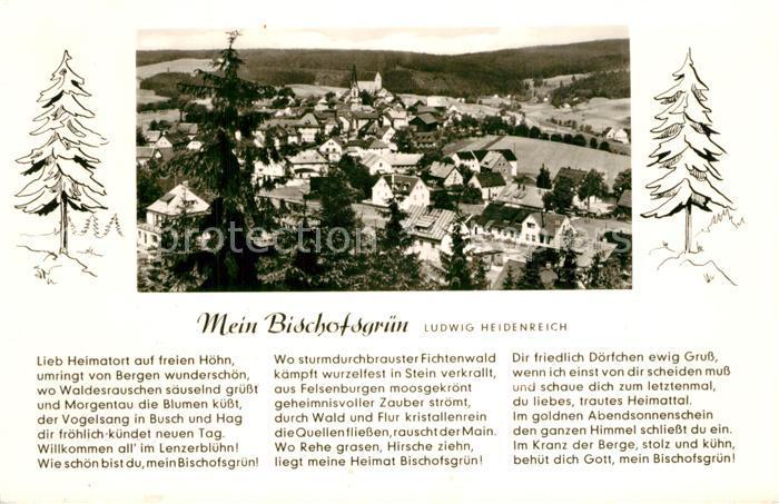 AK / Ansichtskarte Bischofsgruen Panorama Gedicht Bischofsgruen