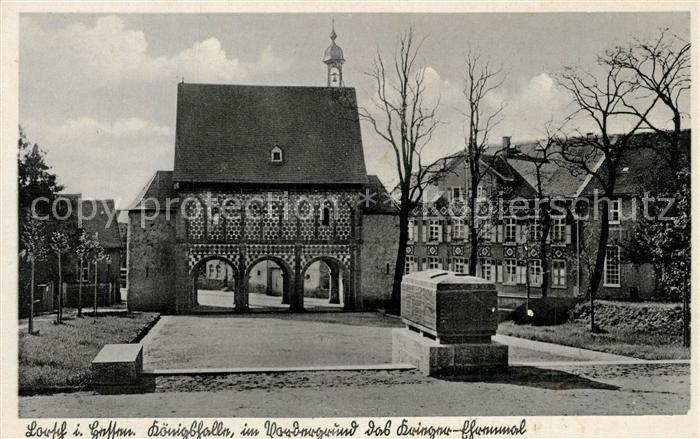 AK / Ansichtskarte Lorsch_Hessen Koenigshalle Krieger Denkmal Lorsch Hessen 0
