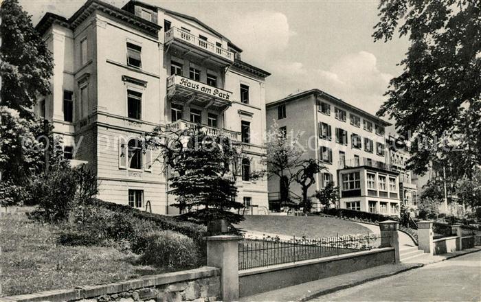 AK / Ansichtskarte Schwalbach_Bad Parkstrasse Haus am Park Schwalbach_Bad 0