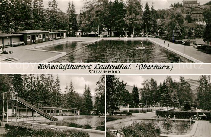 AK / Ansichtskarte Lautenthal_Harz Schwimmbad Lautenthal Harz