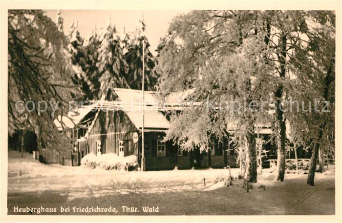 AK / Ansichtskarte Friedrichroda Heuberghaus Winterlandschaft Friedrichroda 0