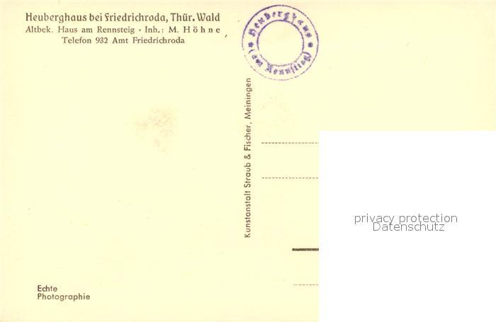 AK / Ansichtskarte Friedrichroda Heuberghaus Winterlandschaft Friedrichroda 1